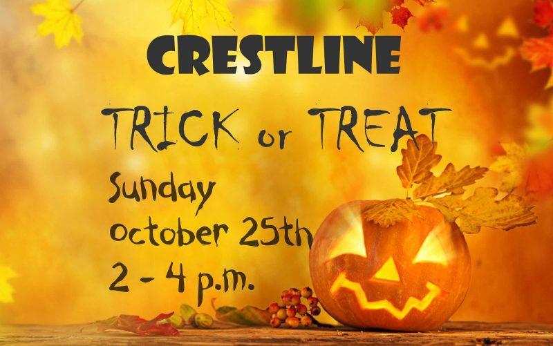 Crestline trick or treat october 25 2 to 4 pm